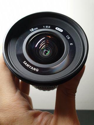 Samyang 12mm f2 wide lens (E-mount)