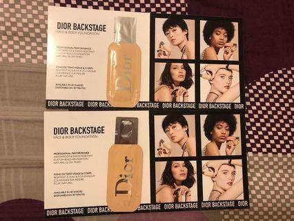 Dior Backstage Face & Body Foundation sample (@$10 each)