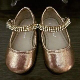 Meet My Feet Golden Glittery Party Formal Shoes Size 20