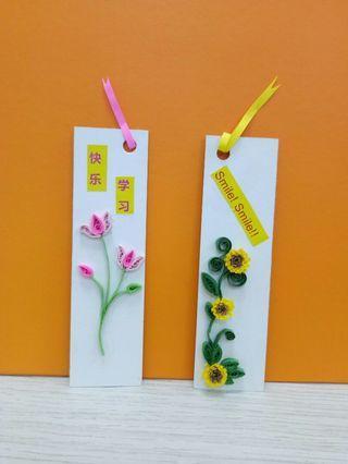 Handmade quilling art bookmark