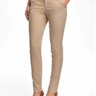 Crème Slim Fit Pants Nude Color