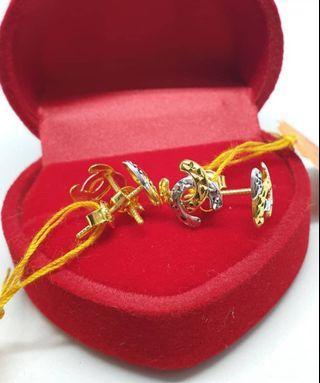 🚚 New CC earings 916 gold