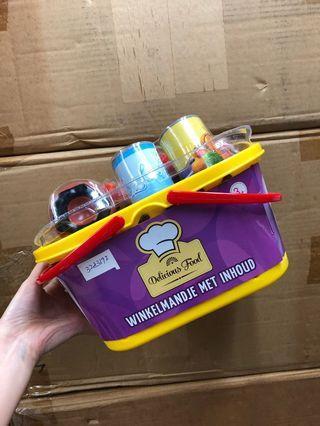 家家酒玩具食物連手提籃套裝