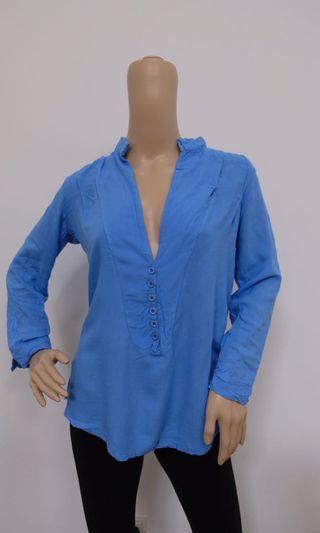 Plain Blue Blouse