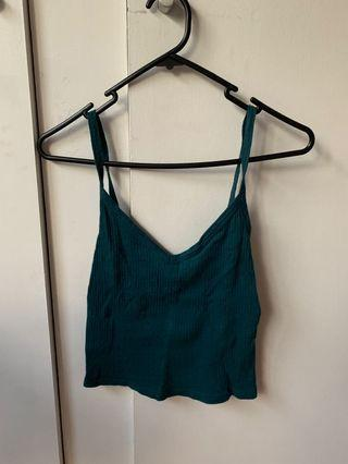Teal strappy cami top