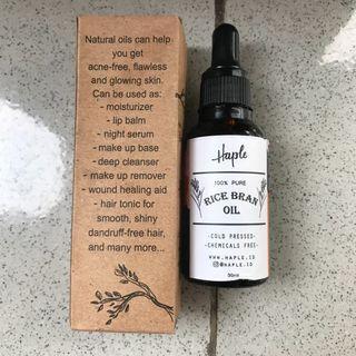 HAPLE ricebrain oil