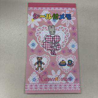 Sanrio 1997年 marron cream 記事簿及貼紙