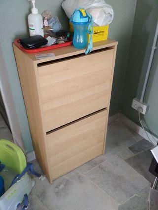 IKEA Wood grain Bissa Shoe Cabinet