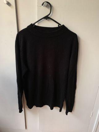 Black high neck jumper
