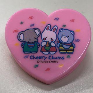 Sanrio 1985年 cheery chums 心型大夾
