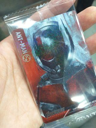Bandai Avengers endgame card Antman (No. 22) 全新包裝未拆 #marvel