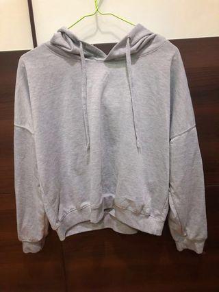 灰色長袖帽T #半價衣服拍賣會