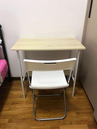Study Table with 1 IKEA chair
