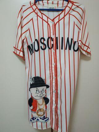 M-oschino baseball outer wear