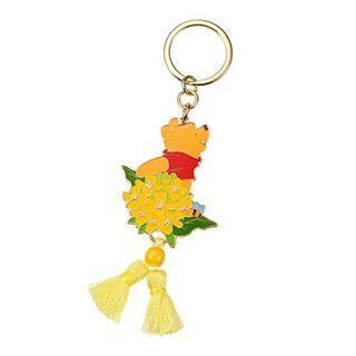 Japan Imported / Japan Disneystore : Keychain Series -  Flower calendar March Winnie The Pooh key chain