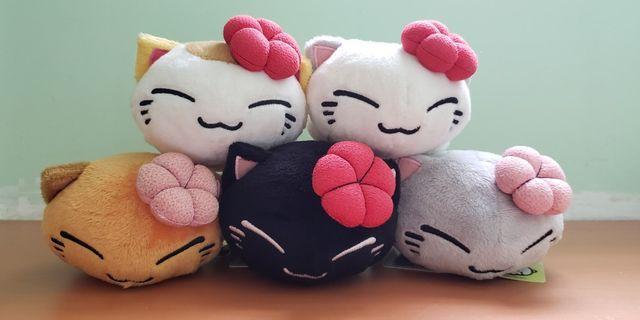 [Furyu 景品公仔] Nemuneko • 愛睡貓 春天梅花版  一套五隻