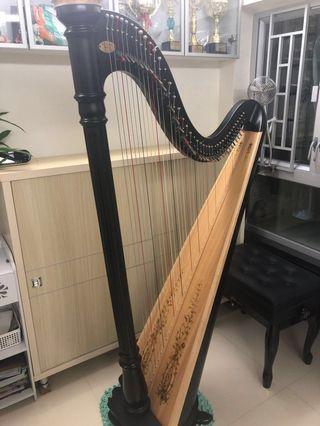 Lyon&Healy prelude40 豎琴 lever harp