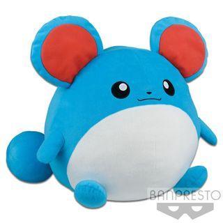 BANPRESTO Huge Marill Plushy Toreba Pokemon Sun & Moon