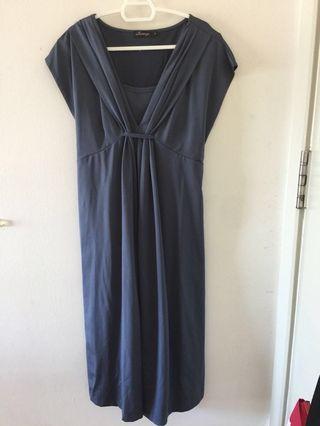 Dark Grey Maternity Dress