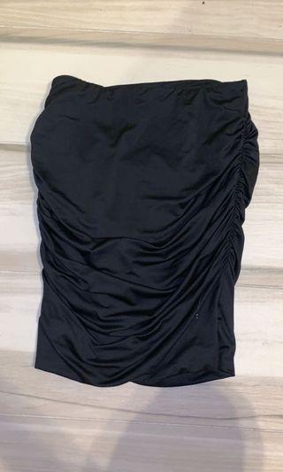 Scrunch side skirt