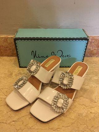 Vine West White Sandals Heels
