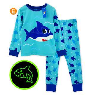 Glow in the dark Baby Shark Kid Pyjamas pajamas