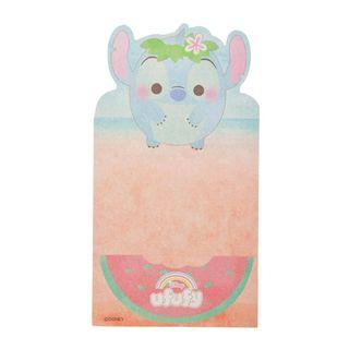 Japan Imported / Japan Disneystore : Memo Collection -Stitch Ufufy Summer Folding Card Memo