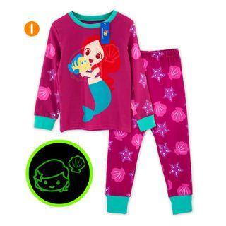 Glow in the dark Mermaid Kid Pyjamas pajamas
