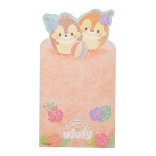 Japan Imported / Japan Disneystore : Memo Collection -Chip And Dale Ufufy Summer Folding Card Memo