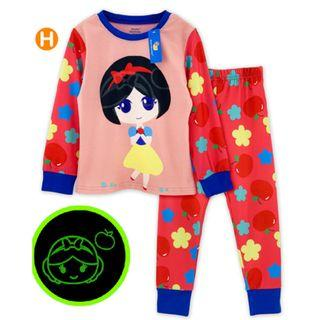 Glow in the dark Snow white Kid Pyjamas pajamas