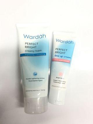 Wardah Perfect Bright creamy foam and tone up cream