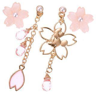 Japan Imported / Japan Disneystore : Earring series -  Sakura Minnie 4 pc Earring Set