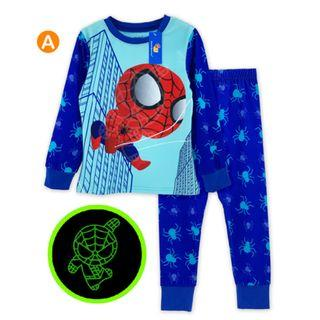 Glow in the dark Spiderman Kid Pyjamas pajamas