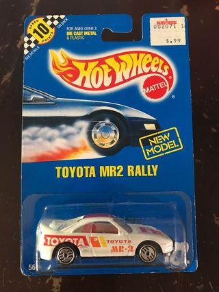 Hot Wheels 10points card - Toyota MR2 Rally
