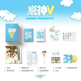 XIAOJUN WAYV SUMMER KIT SET - STICKER, A4 POSTER, FILM