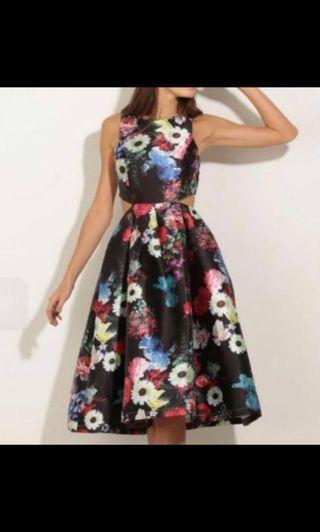 Lucy in the Sky Floral Jacquard Dress