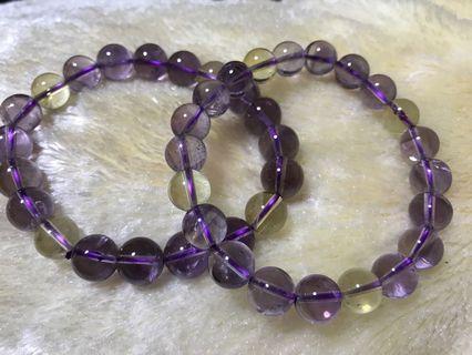 紫黄水晶9mm