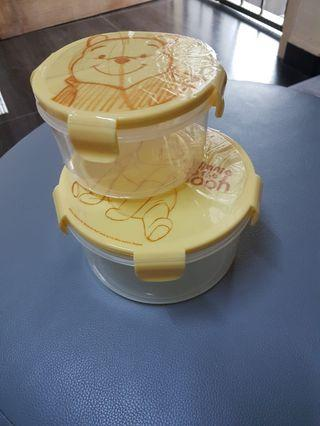 New Winnie the Pooh tupperware (Big and small)