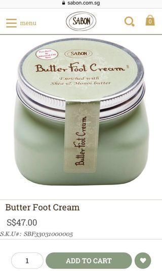 Sabon butter foot cream