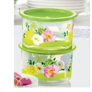 Tupperware Flora Raya One Touch Topper Junior (2) 600ml