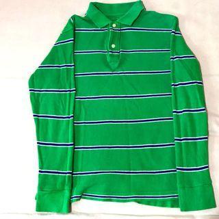 🚚 Gap綠色條紋上衣💜
