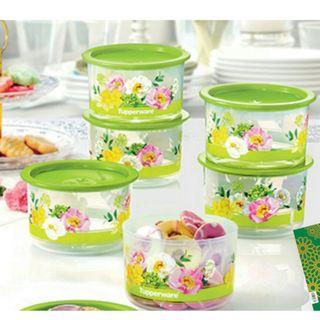Tupperware Flora Raya One Touch Topper Junior (6) 600ml