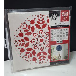 stencils Bohemian 26 pieces BNIB Easy decorator touches on any surfaces gifts, accessories,furnitures, walls