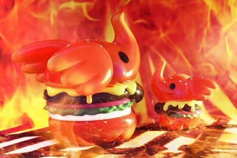 限定 火辣 墨西哥 漢堡 紅色 小象 MINI ELFIE BURGER 漢堡包象 toysoul unbox