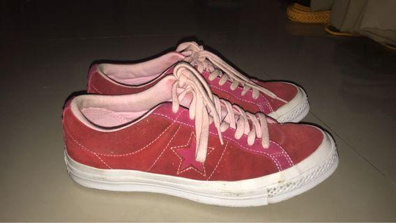 CONVERSE ONE STAR RED PINK