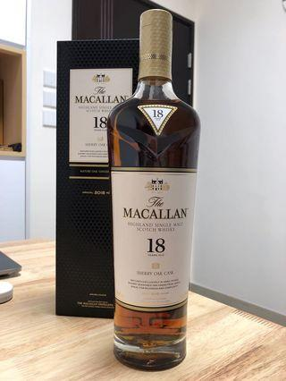 Macallan 18 sherry 2018