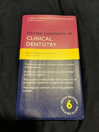 Oxford Handbook of Clinical Dentistry 6th Ed