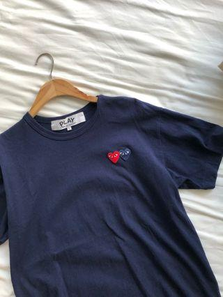 CDG Double heart tee