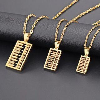 916 Gold Plated Abacus Necklace