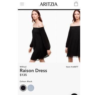 Aritzia Wilfred Raison dress size small black